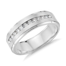 Diamond Channel-Set Wedding Ring in Platinum (1/3 ct. tw.)