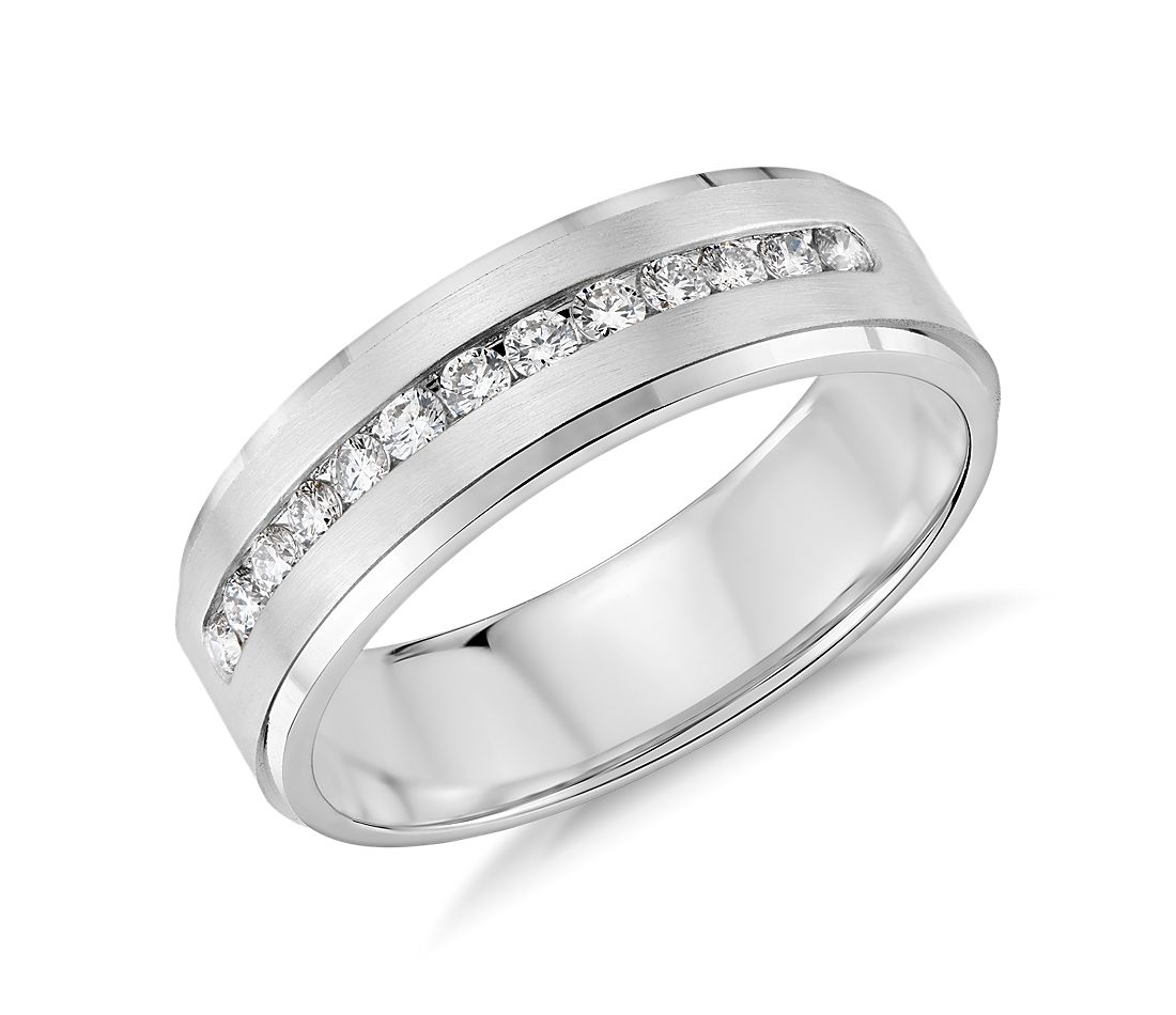 820840a8de3 Diamond Channel-Set Wedding Ring in 14k White Gold (1 3 ct. tw ...