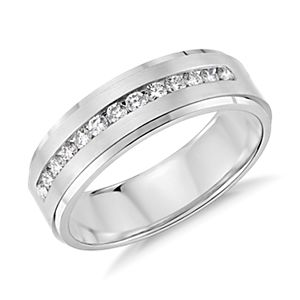 Diamond Channel-Set Wedding Ring in 14k White Gold (1/3 ct. tw.)