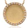 Satin Diamond Circle Necklace in 14k Yellow Gold (1/10 ct. tw.)