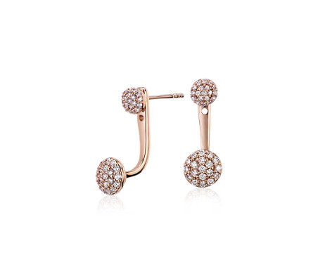 Diamond Stud and Pavé Disc Ear Jacket