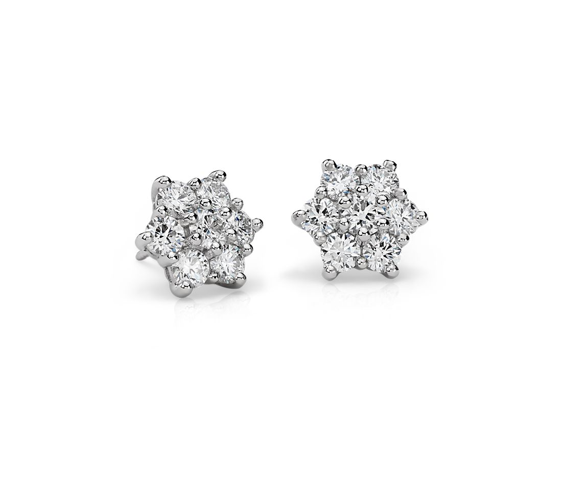 Blue Nile Signature Diamond Cer Earrings In Platinum 2 30 Ct Tw