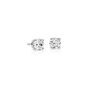 Boucles d'oreilles diamant de la plus haute qualité en platine (1 1/2carats, poids total)