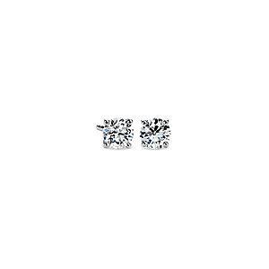 Boucles d'oreilles diamant de la plus haute qualité en platine (1carat, poids total) - F / VS
