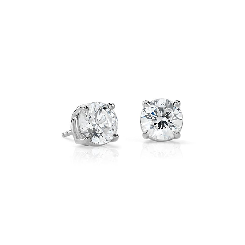 Diamond Earrings in 14k White Gold (4 ct. tw.)