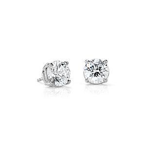 Diamond Earrings in 14k White Gold (4 ct. tw.)