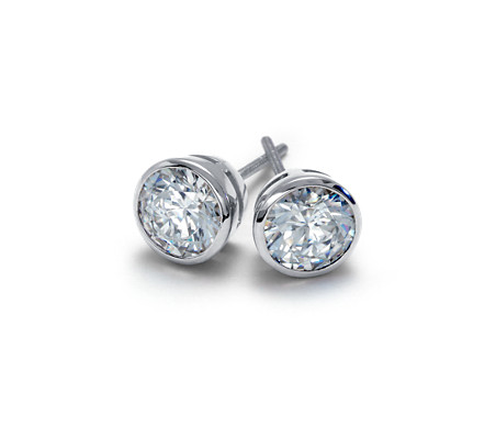 diamond a bezel products miracle inc earrings j set stud