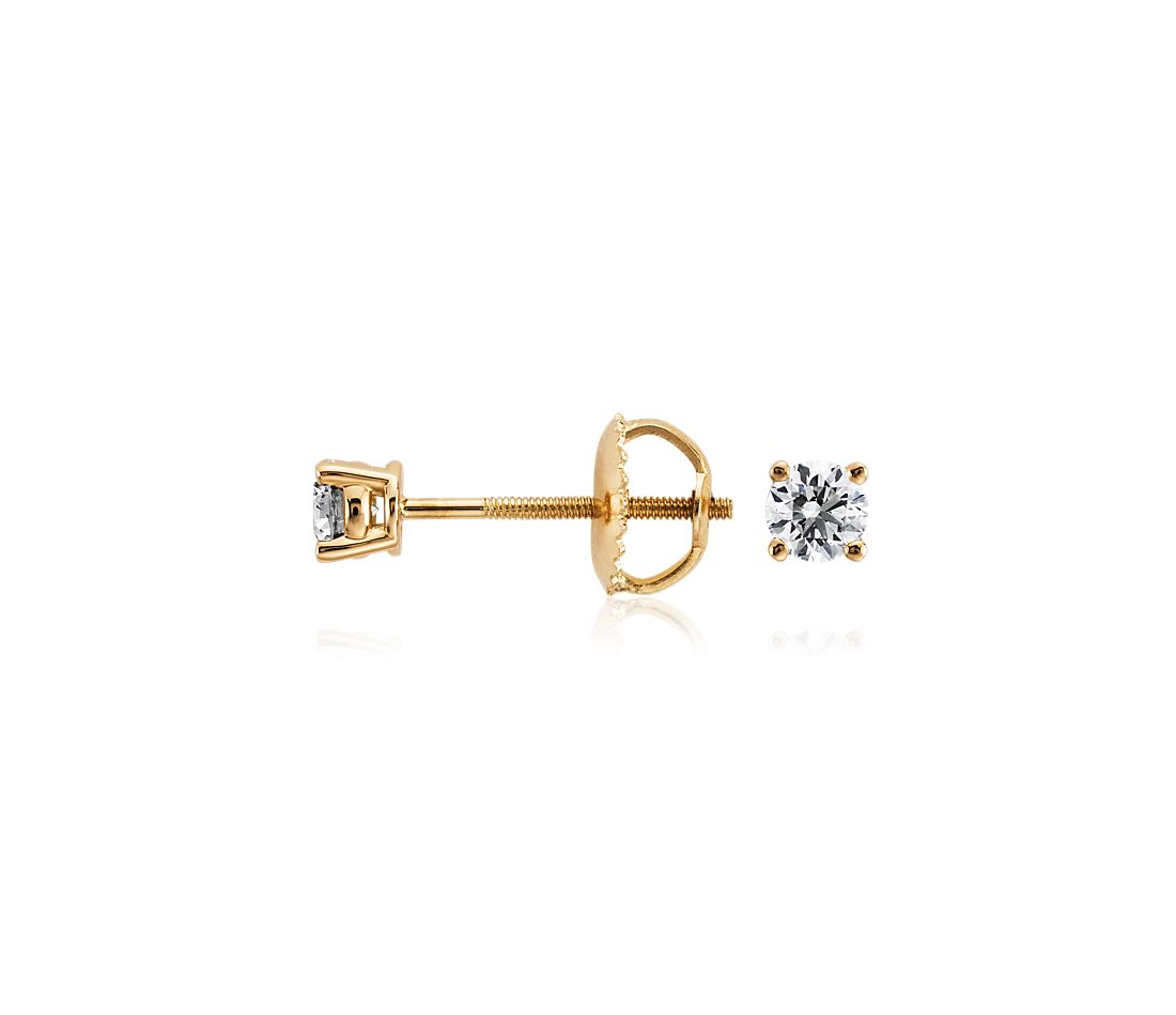 Diamond Stud Earrings in 18k Yellow Gold (1/3 ct. tw.)