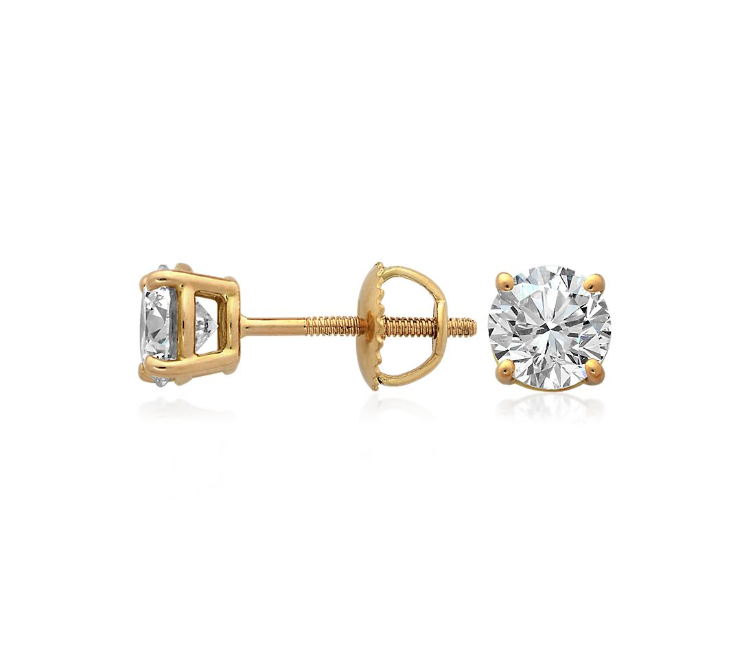Diamond Earrings in 18k Yellow Gold (4 ct. tw.)