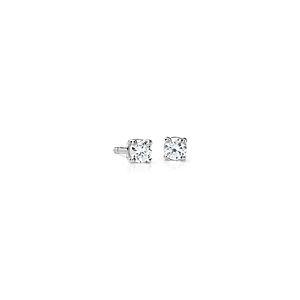 Boucles d'oreilles diamant de la plus haute qualité en platine (1/4carat, poids total) - F / VS