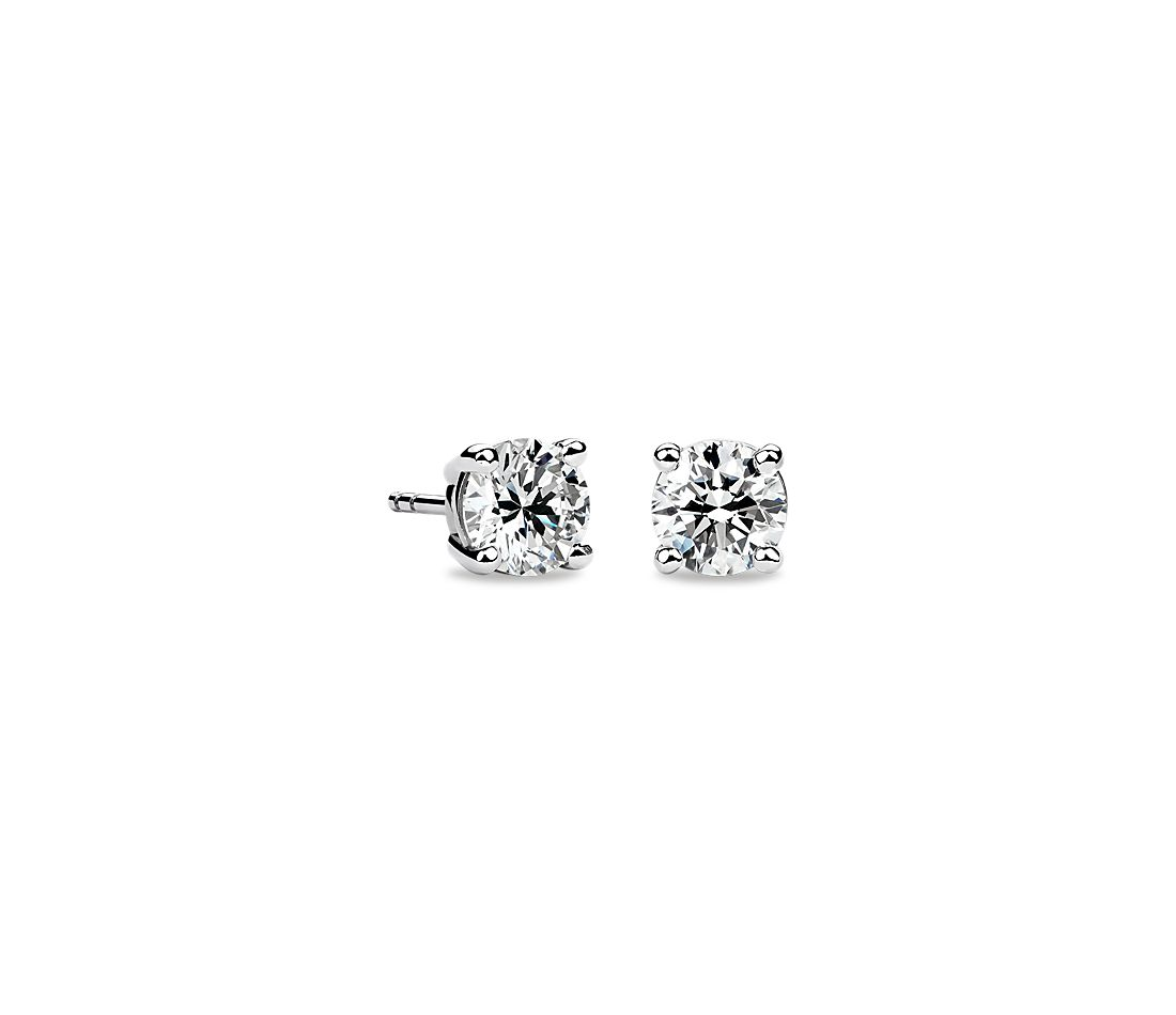 Diamond Stud Earrings In Platinum 1 2 Ct Tw