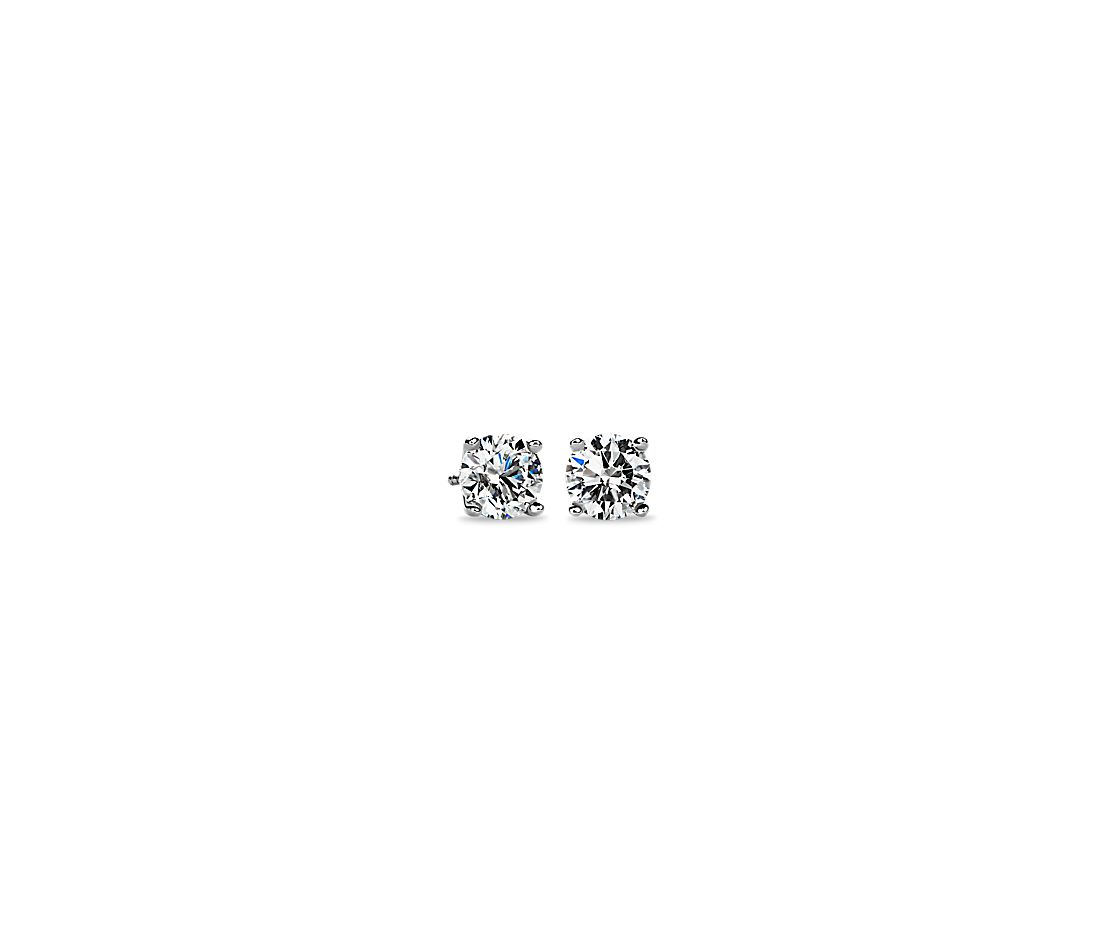 Diamond Stud Earrings In Platinum 3 Ct Tw