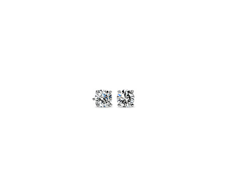 cz cubic zoom stud earrings plated zirconia round large platinum product studs