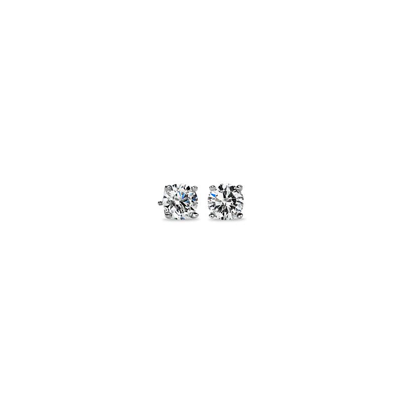 Diamond Stud Earrings in Platinum (3 ct. tw.)