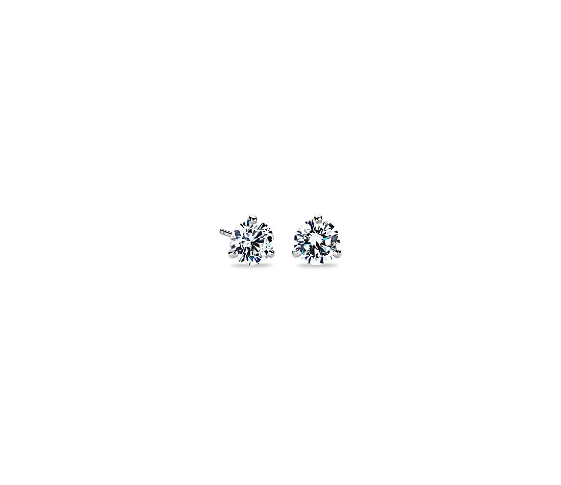 Three G Martini Earrings In Platinum