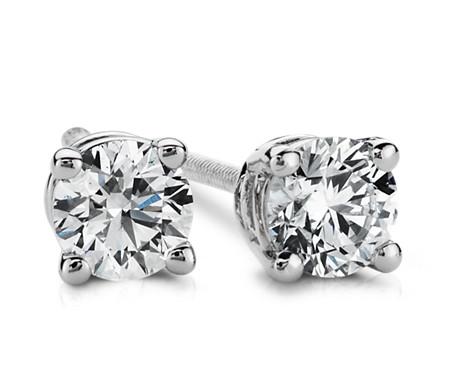 Diamond Stud Earrings in Platinum (1/3 ct. tw.)