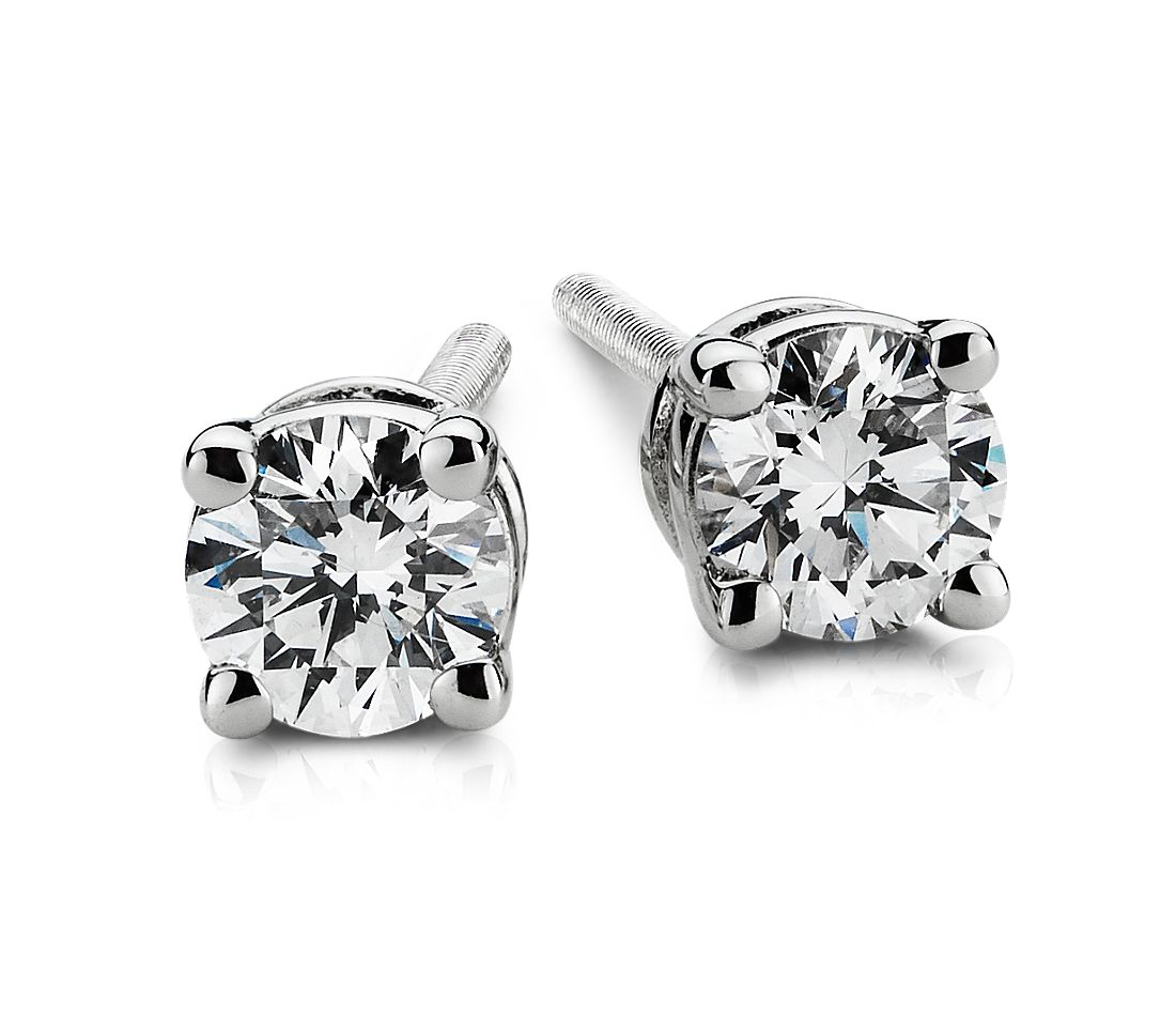 Diamond Earrings in Platinum (1/4 ct. tw.)