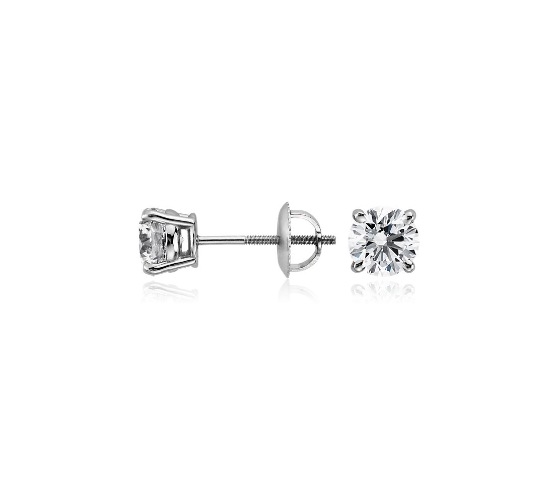 Diamond Earrings in Platinum (1 1/2 ct. tw.)