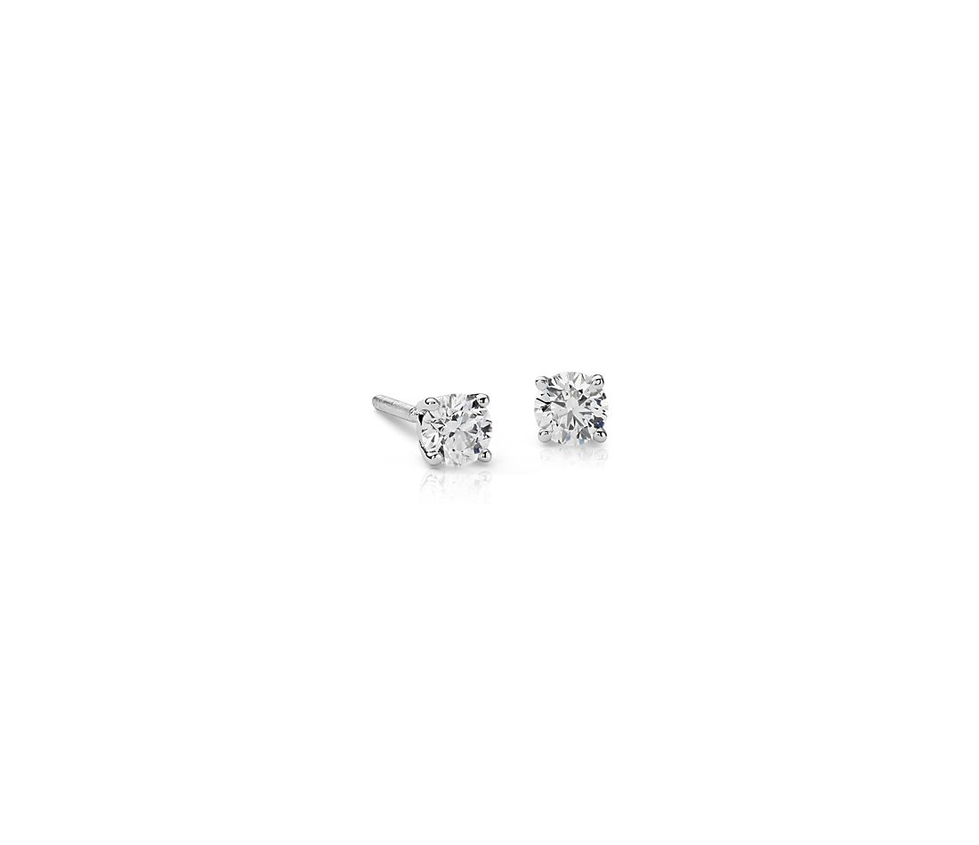 Diamond Stud Earrings in 18k White Gold (3/8 ct. tw.)
