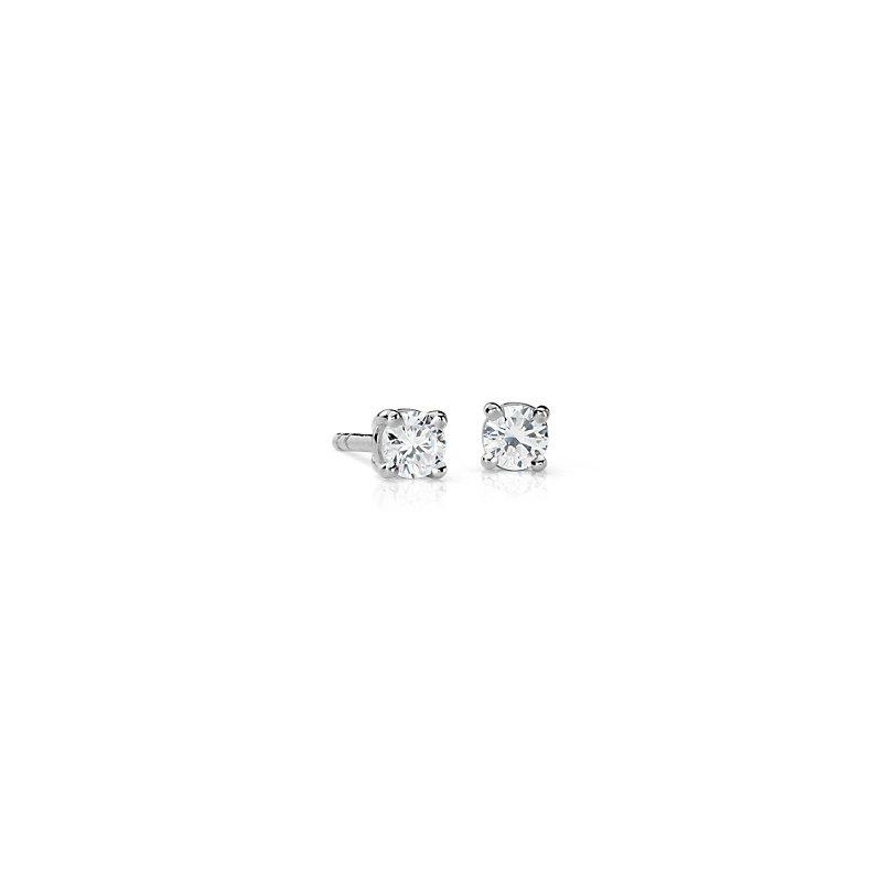 Canadian Diamond Stud Earrings in 18k White Gold (1/4 ct. tw.)