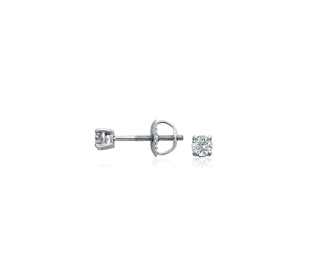 Diamond Stud Earrings in 18k White Gold (1/3 ct. tw.)