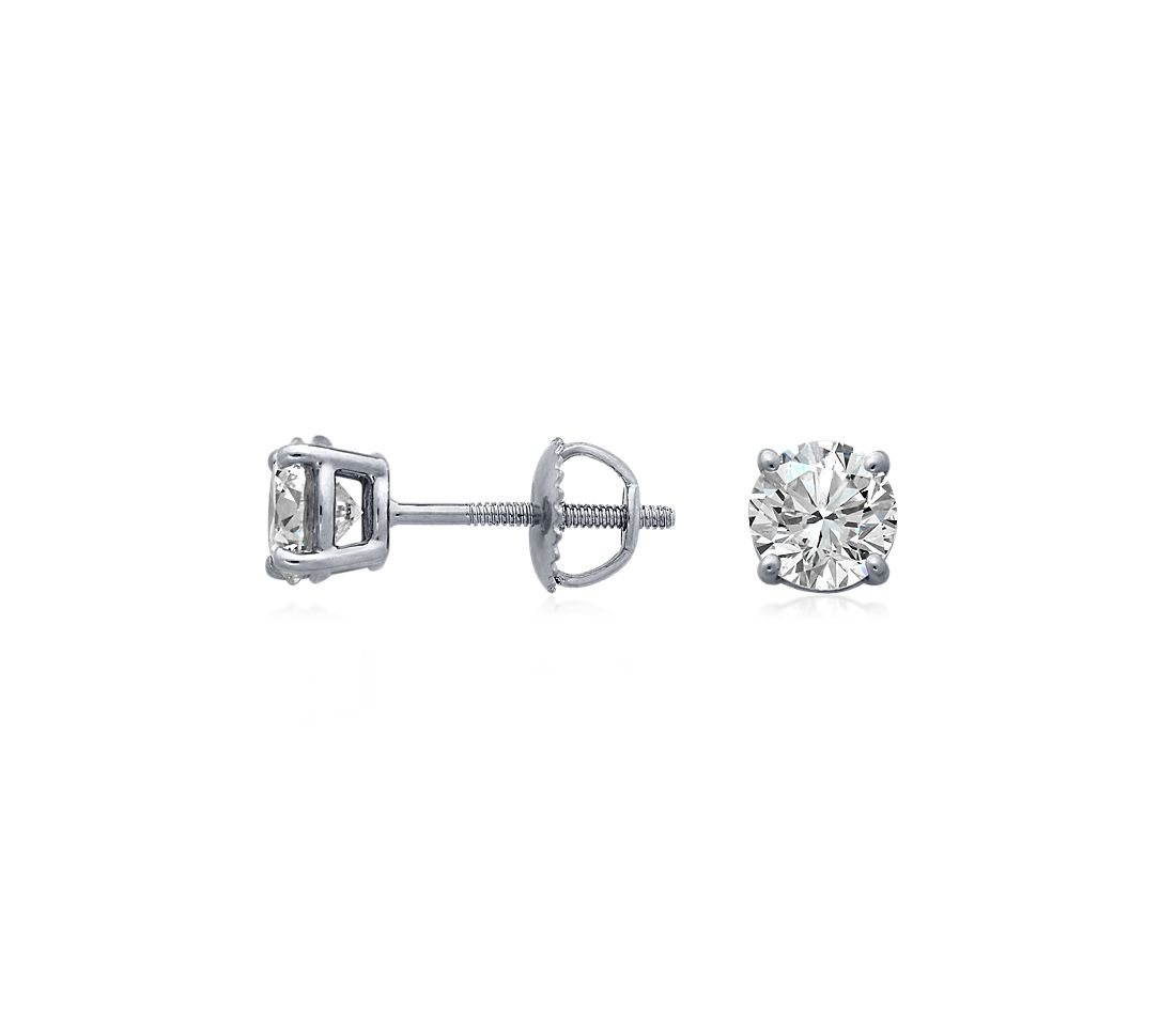 Diamond Stud Earrings in 18k White Gold (1 1/2 ct. tw.)