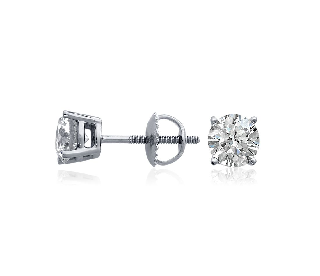 Diamond Earrings in 18k White Gold (4 ct. tw.)