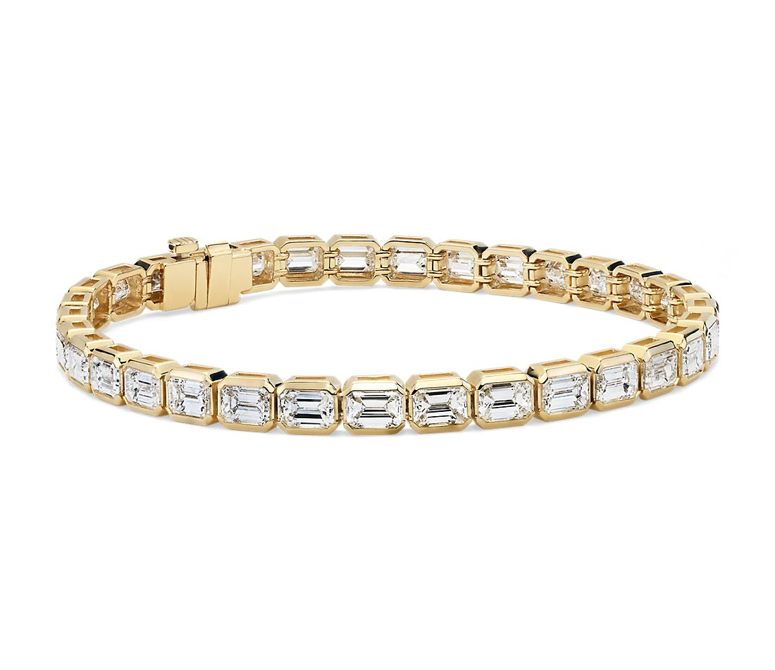 Emerald-Cut Diamond Eternity Bracelet in 18k Yellow Gold (9.93 ct. tw.)