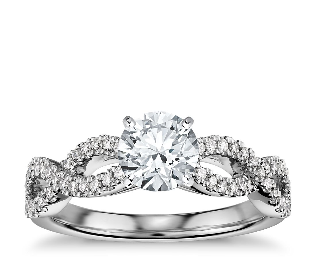 engagement ring infinity diamond htm twist product p