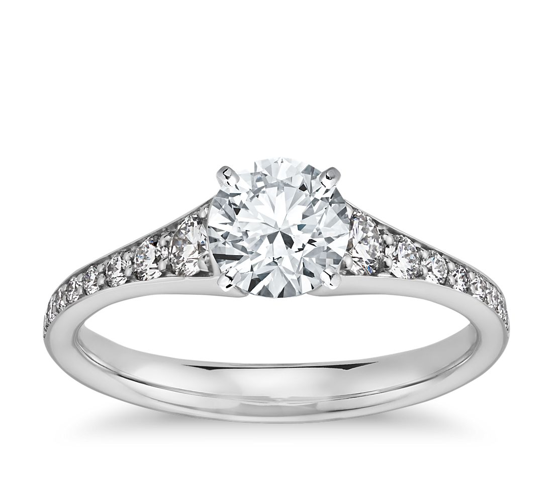 4912332a3f61a Graduated Diamond Engagement Ring in 14k White Gold (1 3 ct. tw ...