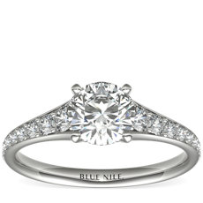 Graduated Diamond Engagement Ring in 14k White Gold (1/3 ct. tw.)