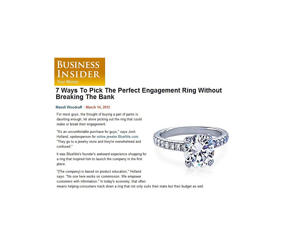 Business Insider's 7 Ways to Pick an Engagement Ring