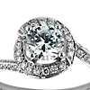Halo Pavé Diamond Engagement Ring in Platinum (1/2 ct. tw.)