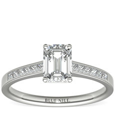 Channel Set Princess Cut Diamond Engagement Ring in Platinum (0.29 ct. tw.)