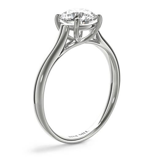 Petite Trellis Solitaire Engagement Ring