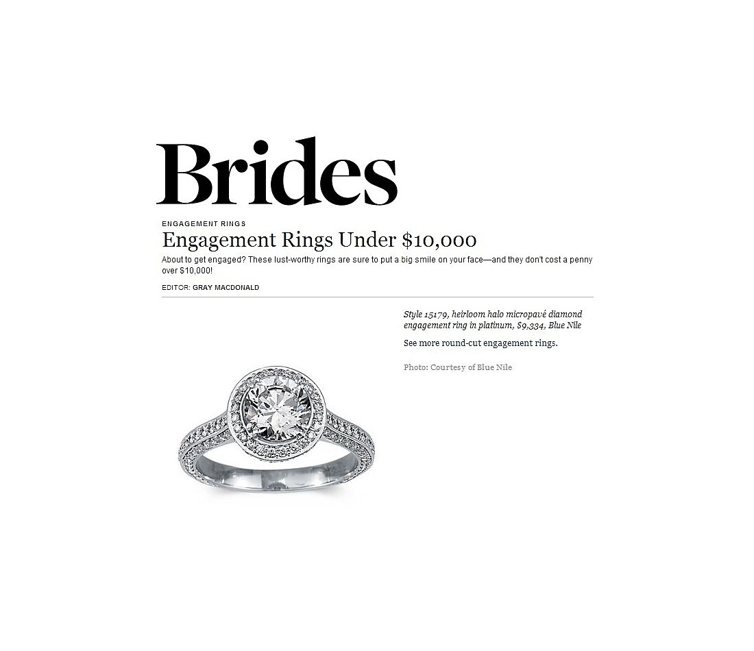 BRIDES - Halo Diamond Engagement Ring