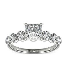 Floating Diamond Engagement Ring in Platinum (0.78 ct. tw.)
