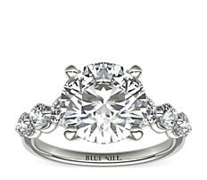 Floating Diamond Engagement Ring in Platinum (0.78 ct. tw.)