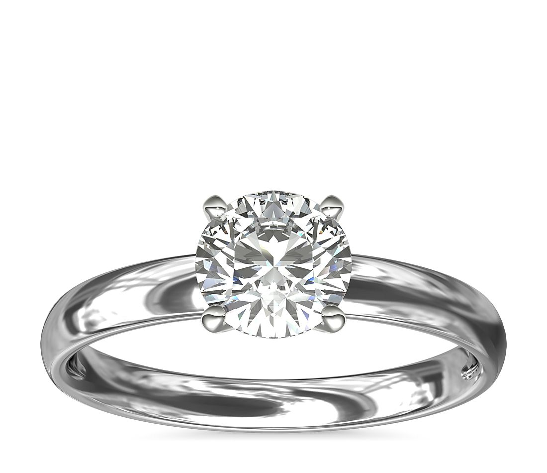 fb2222514 Classic Comfort Fit Solitaire Engagement Ring in 14k White Gold (2.5 ...