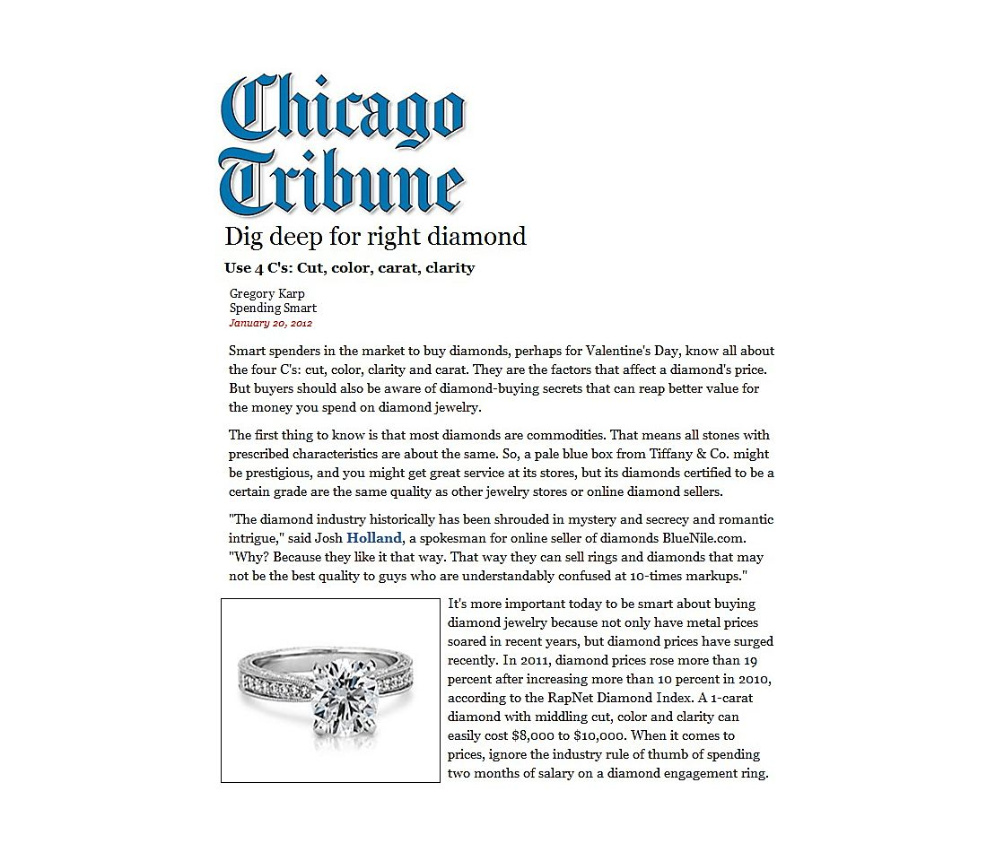 Chicago Tribune - Investigue para encontrar el diamante ideal