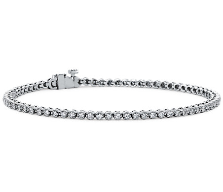 Diamond Tennis Bracelet In 18k White Gold 1 Ct Tw