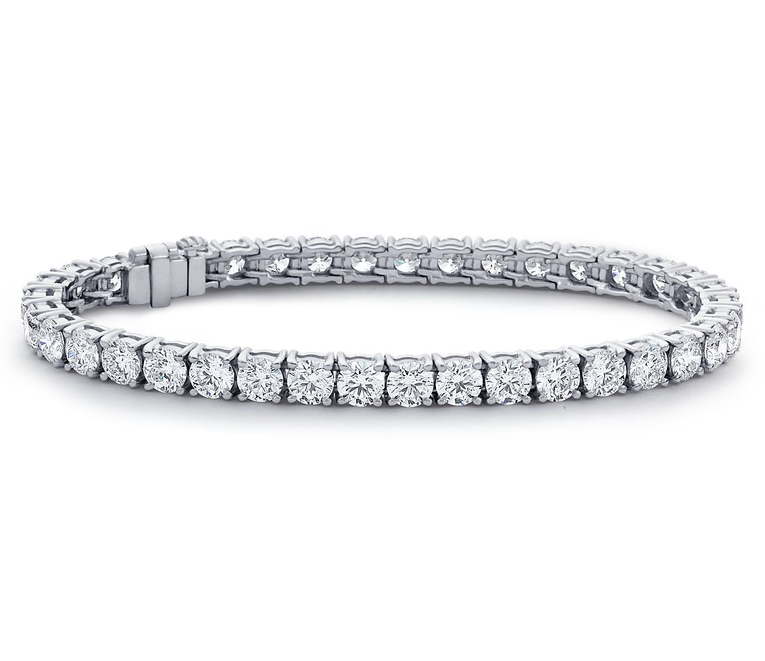 Diamond Eternity Tennis Bracelet In Platinum 12 Ct Tw