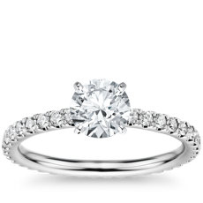 Eternity Diamond Engagement Ring in 14k White Gold (3/8 ct. tw.)