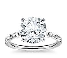 Anillo de eternidad con diamantes en oro blanco de 14 k (0,44qt total)