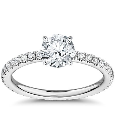 Diamond Eternity Engagement Ring in Platinum (3/8 ct. tw.)