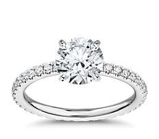 Bague de fiançailles d'éternité en diamants en platine (0,45carat, poids total)