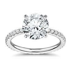 Diamond Eternity Engagement Ring in Platinum (0.45 ct. tw.)
