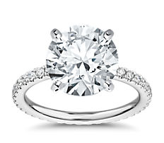 Diamond Eternity Engagement Ring in Platinum (0.45 ct. tw.)