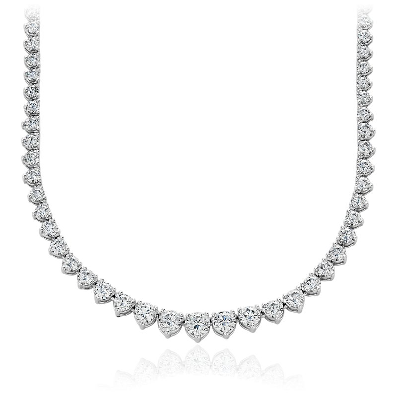 Eternity Diamond Necklace in 18k White Gold (10 ct. tw.)