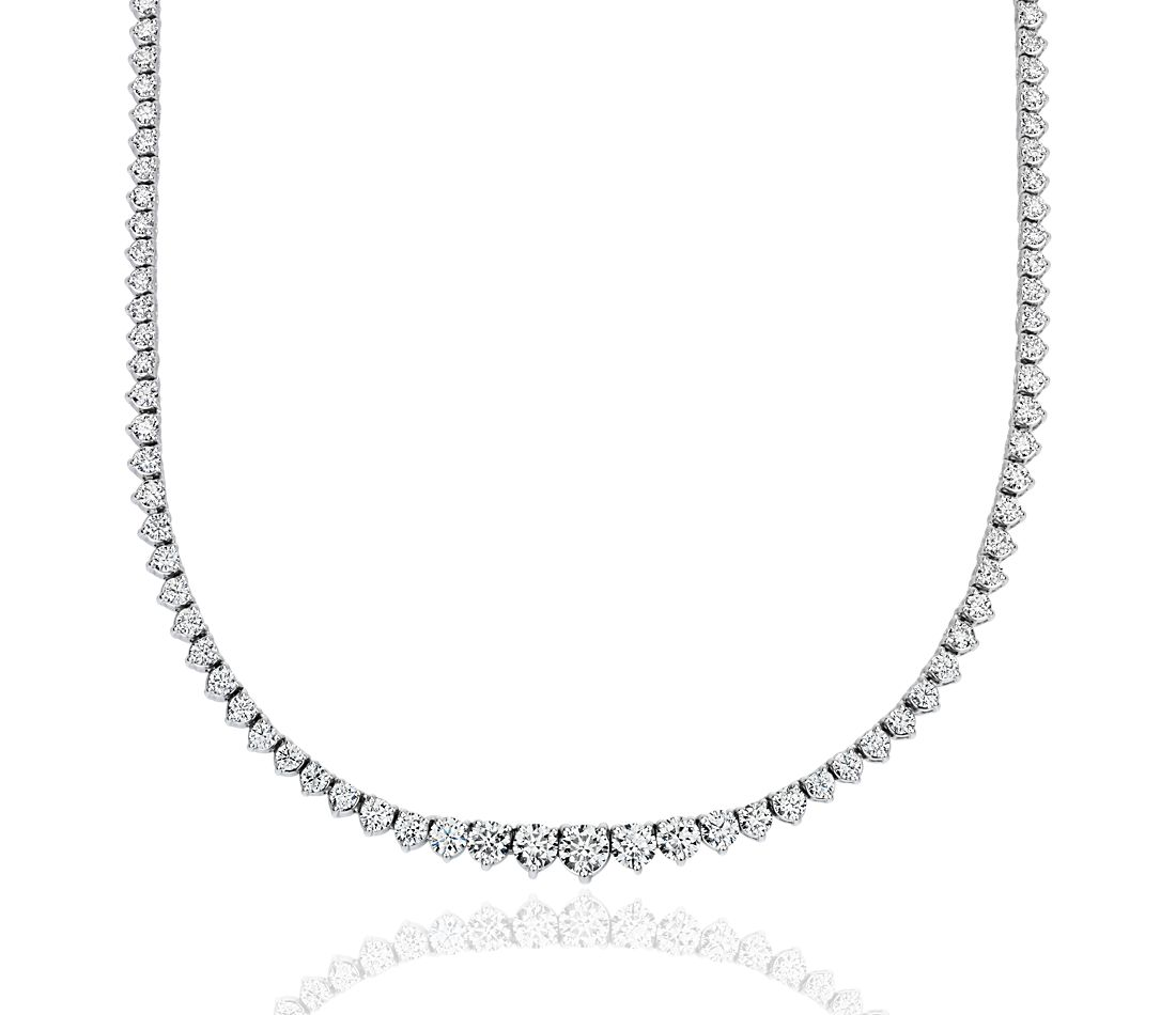 Diamond Eternity Necklace in 18k White Gold (5 ct. tw.)
